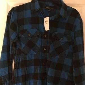 Banana Republic Standard Fit Blue Small Light Flan